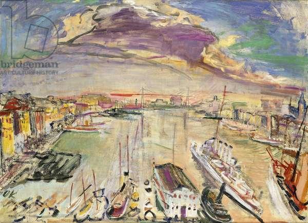 Port of Marseille, I; Hafen von Marseille, I, 1925 (oil on canvas)