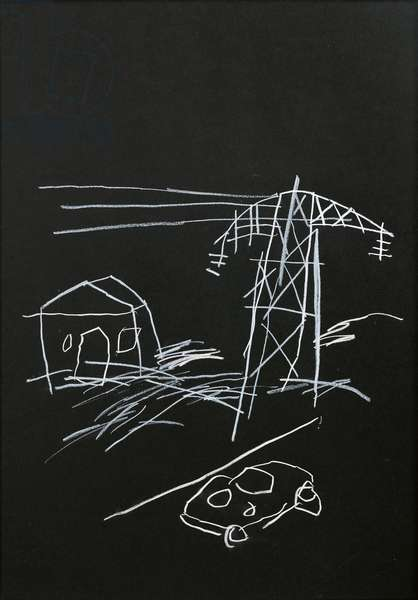 Untitled, c. 1981 (wax crayon on paper)