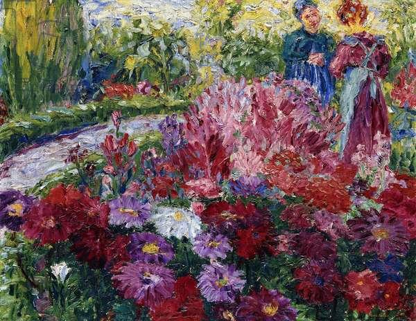Flower garden; Blumengarten, 1908 (oil on canvas)