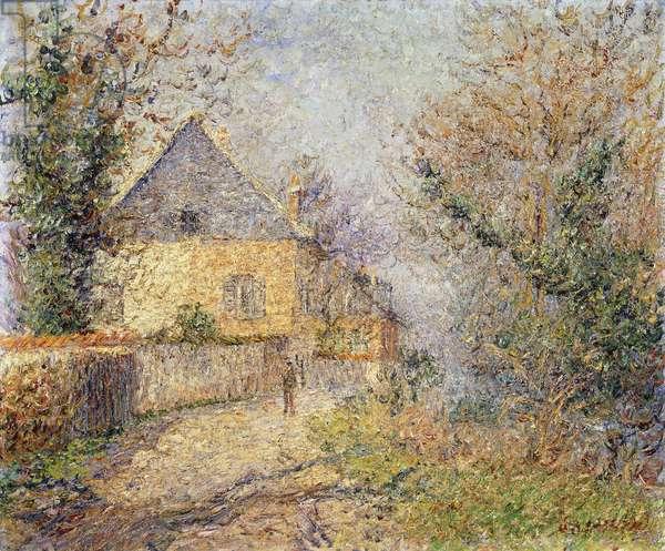Houses on the Banks of the L'Eure, Louviers; Maisons au Bord de L'Eure, Louviers, 1902 (oil on canvas)