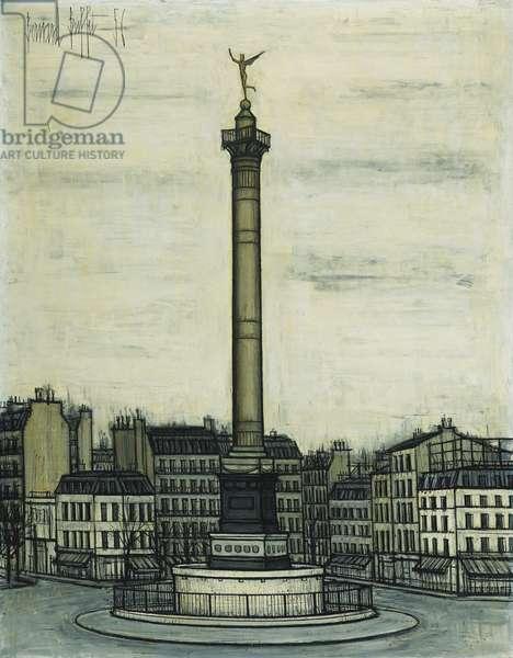 La Place de la Bastille et le Genie, 1956 (oil on canvas)