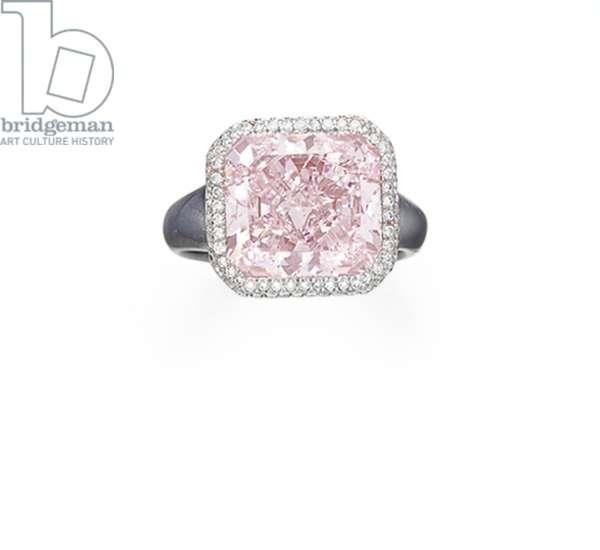 Ring (diamonds & oxidised gold)