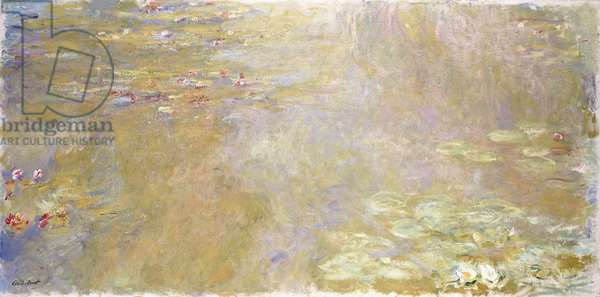 Waterlily Pond, c.1917-1919 (oil on canvas)