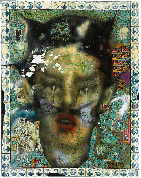 My Foolish Heart, 1992 (collage, printed paper, paper, synthetic resin and oil on canvas)