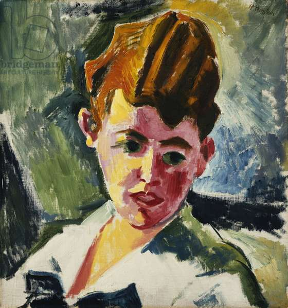 Portrait of a Young Man; Portrat eines Jungen Mannes, 1917 (oil on canvas)