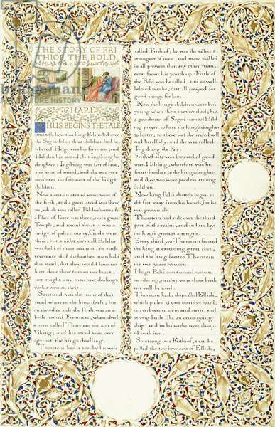 Calligraphic and illuminated manuscript, c.1871-1873 (inks and paint on paper)