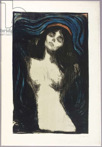Madonna, 1895-1902 (litho with colour woodcut)