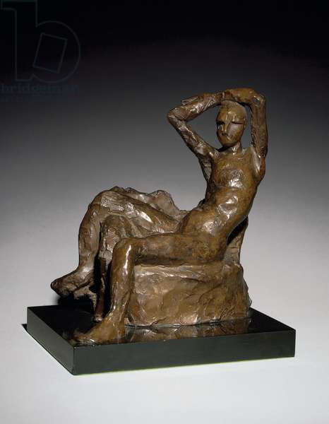 Small Nude on a Couch, conceived 1924, cast 1958 (bronze with brown patina)