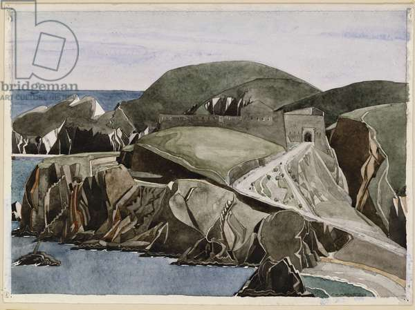 The Road Through the Rocks, c.1926-27 (w/c)