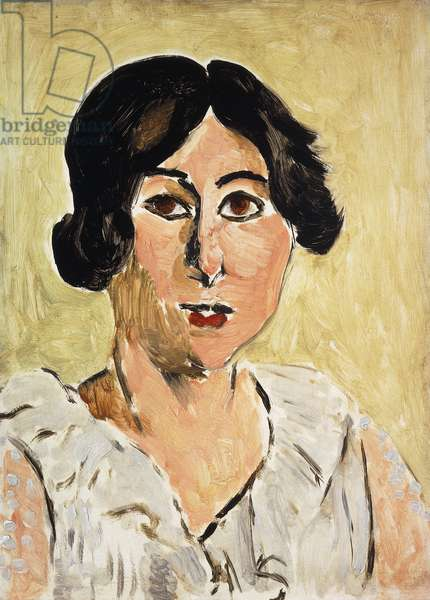 Head with Blackened Eyes (Lorette); Tete aux Yeux Noirs (Lorette), c.1917 (oil on panel)