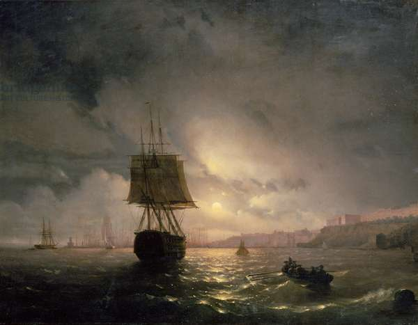 Harbour at Odessa on the Black Sea, 1852
