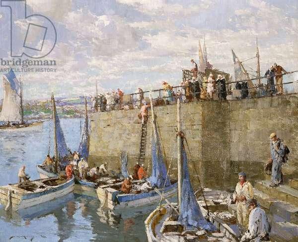 Sardine Fishers, Concarneau,  (oil on canvas)