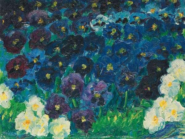 Blue Violas; Blaue Stiefmutterchen, 1908 (oil on canvas)