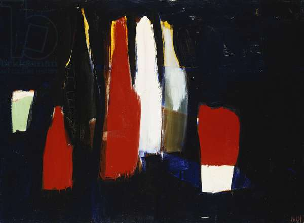Bottles; Bouteilles, 1954 (oil on canvas)