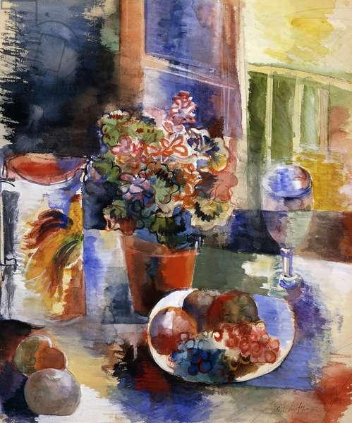 Still-life; Nature Morte; Jean Dufy (1888-1964), c.1920 (gouache over pencil on paper)