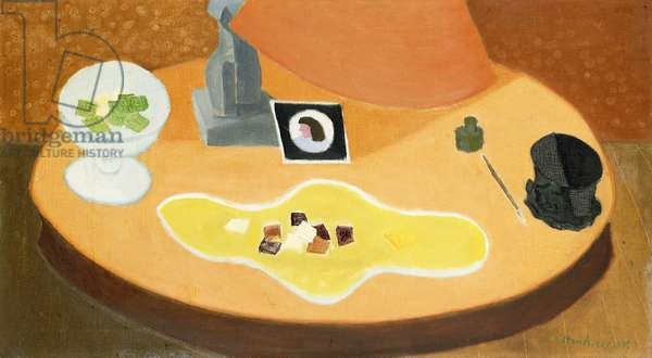 Table with Objects, 1948 (oil on canvas)