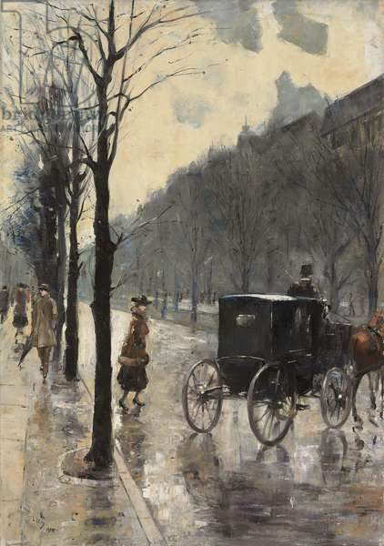 Kurfurstendamm Boulevard, 1910 (oil on canvas)