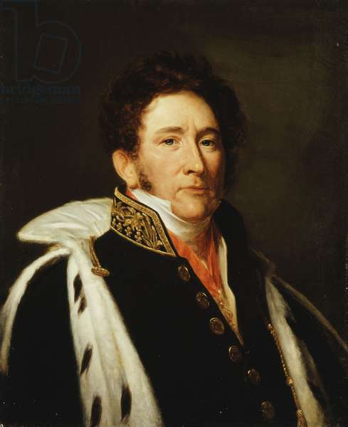 Portrait of Louis-Marie-Joseph, Comte de Brigode, Pairde France (oil on canvas)