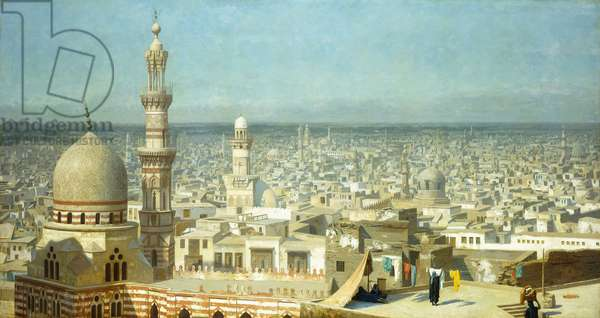 View of Cairo,  (oil on canvas)