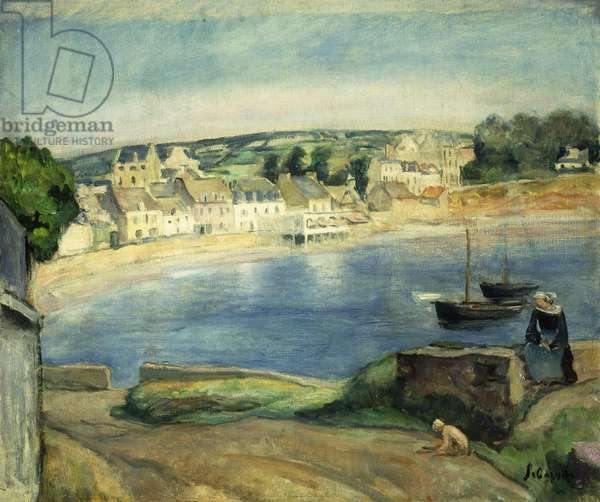 Breton Landscape at Miget; Paysage de Bretagne a Miget, (oil on canvas)