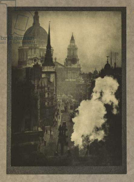 St. Paul's and Other Spires, 1909 (hand-pulled gravure, mounted on grey paper)
