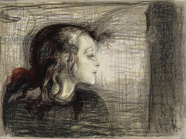 The Sick Girl; Das Kranke Madchen, 1896 (lithograph)