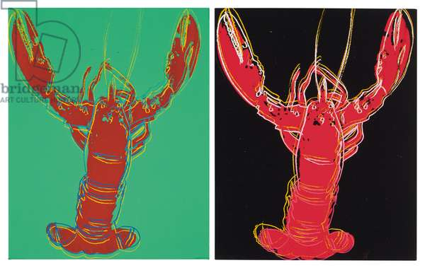 Lobsters, 1982 (synthetic polymer and silkscreen inks on canvas)