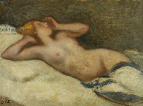 Nude Outstretched; Nu Allonge, (oil on canvas)