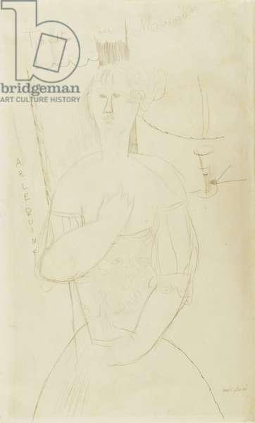 Harlequin, c.1915 (pencil on paper)