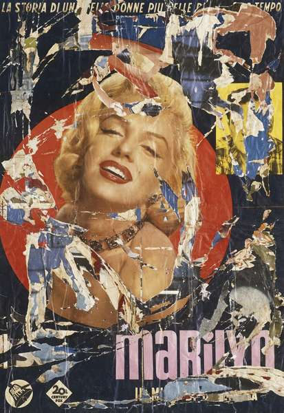 Marilyn Monroe, 1963 (torn posters on canvas)
