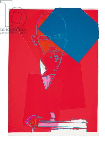 Lenin, 1987 (silkscreen and collage paper on handmade paper)