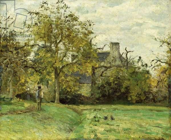 Piette's House in Montfoucault; La Maison de Piette a Montfoucault, 1874 (oil on canvas)