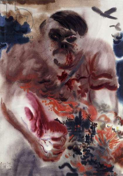 The Threat; Die Bedrohung, 1934 (watercolor, brush and India ink on paper)