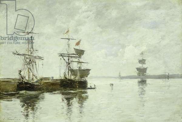 Port Scene, c.1880 (oil on panel)