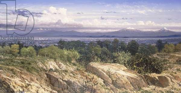 Valley of Mexico; Valle de Mexico, 1986 (acrylic on canvas)