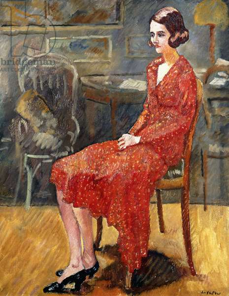 Miss Suzanne, sitting; Mademoiselle Suzanne, assise, 1928 (oil on canvas)