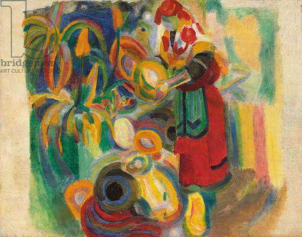 Study for 'Tall Portuguese Woman' (1916); Etude pour 'La grande portugaise', 1915 (oil and wax on paper laid down on panel)