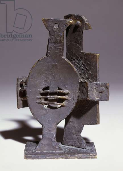 Harlequin with a Mandoline; Harlequin a la Mandoline, c. 1926 (bronze)