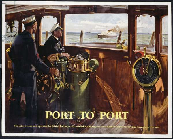 Port to Port, 1960 (colour litho)
