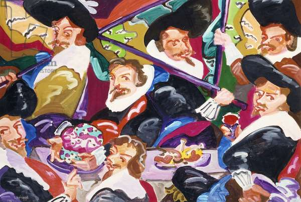Hommage a Franz Hals, 1974 (acrylic on canvas)
