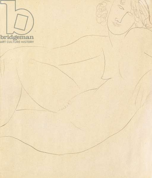 Femme Nue Accoudee, 1918 (pencil on paper)