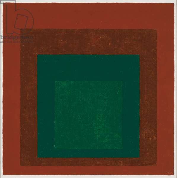 Study for Homage to the Square: Coniferous, 1958 (oil on masonite)