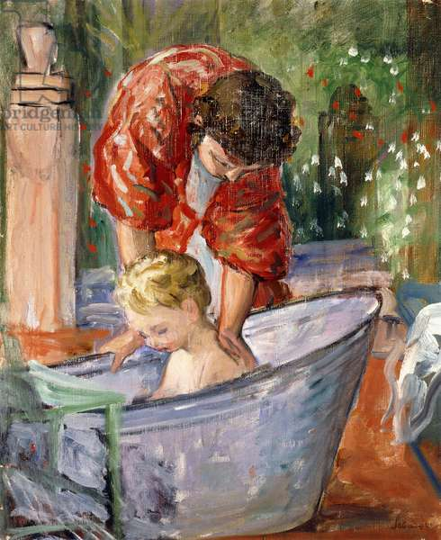 The Bath; Le Bain,  (oil on canvas)