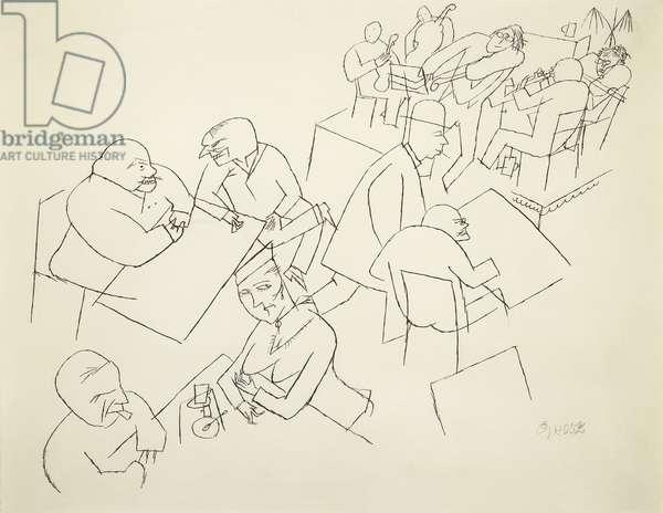 Cafe Concert, c.1916 (pen and black ink on paper)