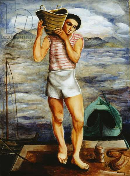 Fisherman, 1940 (oil on canvas)