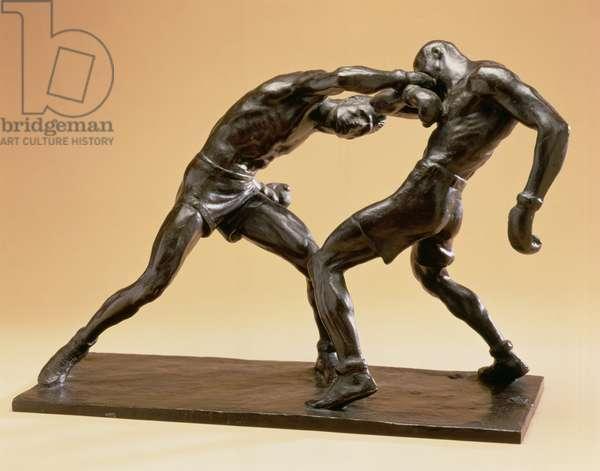 Two Boxers (bronze)