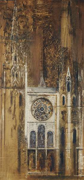 Chartres Cathedral,  (oil on canvas)