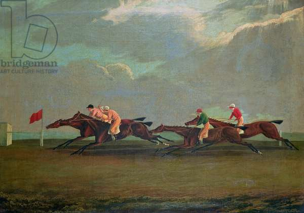 Racing at Cheltenham, 1826 (oil on canvas)