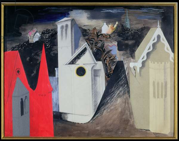 Cheltenham Fantasia, 1939 (pencil, ink, gouache and collage on paper)