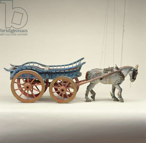 Horse and Cart, puppet and working model, 1923 (mixed media)